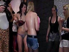 Amateur party teens go lesbo