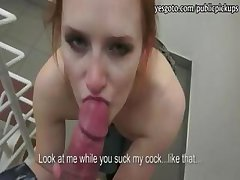Fresh redhead girlfriend Marla flashing perky tits and rides a long cock