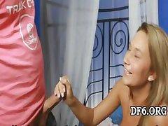 Teen spreads virgin legs