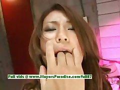 Romihi Nakamura innocent lovely and naughty japanese girl fondles her pussy