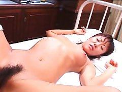 Skinny Asian nurse gets to help his needs