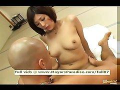 Japanese AV girl blowjobs and riding cock