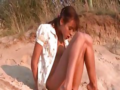 lovely natasha teen naked on the beach