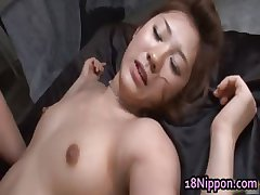 Teen japanese amateur gets gangbang part1