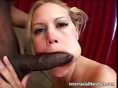 Cowgirl interracial sex with blonde part1