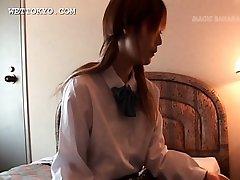 Close-up with asian teens girls undies shown upskirt