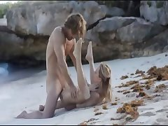 Exquisite fuck on the beach in art movie
