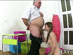 Lusty doggystyle drilling