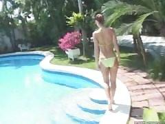 Susana Spears green bikini