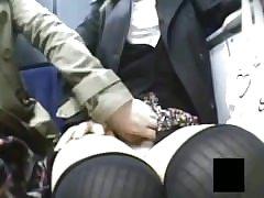 Spycam Lesbian Train Grope