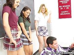 InnocentHigh Holiday Special Hot ass blonde teen Sierra Day fucks player